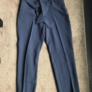 Cropped Navy Crepe Geneva pants from Wilfred